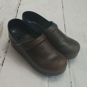 Dansko Leather Professional Nursing Clogs Size 39